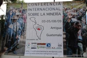 Cartel Conferencia Mineria Antigua - Guatemala